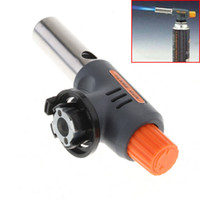 bbq cookware - High Quality Portable Welding Gas Torch Flame Gun Electronic Ignition Lighter Burner High and Low for Camping BBQ and Baking