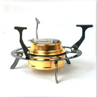 alcohol tea - Outdoor Folding Cooking ALOCS Portable Gasified Alcohol Stove Stand amp Spirit Burner Small Coffe Tea Stove Gold ColorCS B03