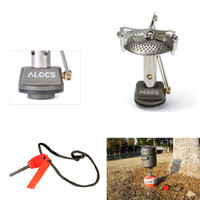 alocs stove - ALOCS CS G09 All in one Type Mini Outdoor Gas Stove Portable Aluminum Stainless Steel Camping Burner with Flint