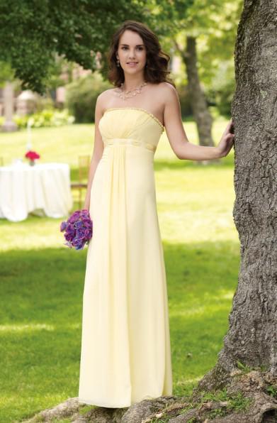 Buy 2011 Custom Made Bridesmaid Dress BC11004 Ruffled Strapless Chiffon Pleated Floor Length Gowns