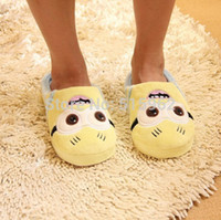 Wholesale Despicable Me home slippers Precious Milk Dad floor minion slippers ladies shoes spring fall minion lovely house slippers
