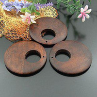 Wholesale 200pcs Wooden Wood Circle beads jewelry Earring accessory mm