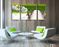 Cheap Wholesale-Modern home interior frameless painting print canvas oil panting fresh natural green scenery wall art picture factory supply