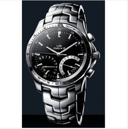 Wholesale calibre automatic stainless steel link caliber s black dial watch mens watch