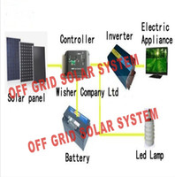 Wholesale W off grid solar power system including V V A MPPT solar controller W off gird pure sine inverter