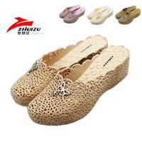 plastic toe cap - Cutout breathable summer toe cap covering slippers women platform wedges beach plastic sandals shoes