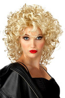 Wholesale women cosplay wigs fashion Funky Lite Curly Short Blond Wig dear lover party wigs new