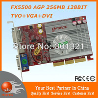 Wholesale New NVIDIA GeForce FX5500 AGP MB BIT Graphics Video Card Drop shipping with tracking number