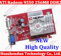 Wholesale New From factory best choice NEW ATI Radeon MB BIT DDR2 S Video VGA DVI AGP x x video Card