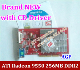 Wholesale NEW original ATI Radeon MB DDR2 AGP x x video Card FORM factory low end AGP video graphic card with CD Driver