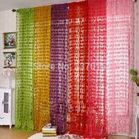 wall dividers - New Multi colors Cute Heart Panel Line String Curtain Tassel Drape Wall Door Divider