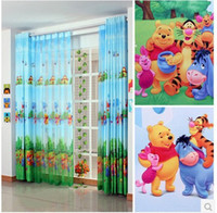 Wholesale Real Direct Selling Freeshipping Included Cortina Boy Cartoon Curtains Curtain Yarn cartoon Curtains for Winnie The Pooh