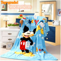 Wholesale Cartoon Home Textile Mickey Blankets Fleece Blanket Bedding Set Blankets for the Sofa