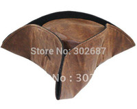 Wholesale Caribbean Pirate Jack Sparrow Tricorn Hat Adult Party Costume Brown HAT Costume Accessories