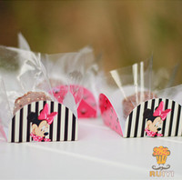 baby shower candy wrappers - Minnie Mouse cupcake wrappers decoration Kids birthday party favors chocolate candy box bar baby shower