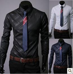 Discount Solid Color Designer Dress Shirts - 2017 Solid Color ...