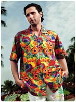 aloha shorts - off per order Mix Order Cotton Aloha Shirt Short Sleeved Fruits Printed Hawaii