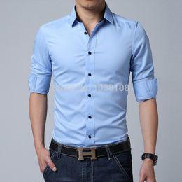 Wholesale-Men's brand shirt mens long sleeve dress shirt men Classic easy care business formal shirts for men