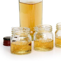 Wholesale NEW HOT Buy discount oz clear Mini Mason jar Novelty shot glass USD46 for each USD1 pc