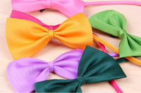 Wholesale 1000pcs Hot Sales Dog Neck Tie Dog Bow Tie Cat Tie Supplies Pet Headdress adjustable bow tie