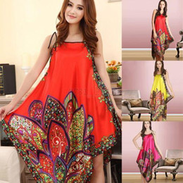 Wholesale-Sexy Women Casual Long Dress Chemise Nightgown Sleepwear Pajamas Bath Robes Hot Free Shipping
