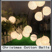 light bulb string lights - x Cotton Balls Bulbs Garland Fairy Home Christmas Decoration Wedding Halloween New Year Gift For String light