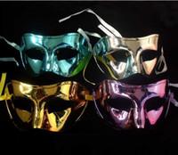 bulk glitter - Men s Flat Head Light Halloween Masquerade Masks Plating Glitter Smooth Cheap Sale Bulk