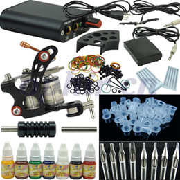 Wholesale OPHIR set Tattoo Kit Tatoo Machine Gun Colors Tattoo Inks Pigment Induction Tattoo Machine for Beginner Body Tatto Art