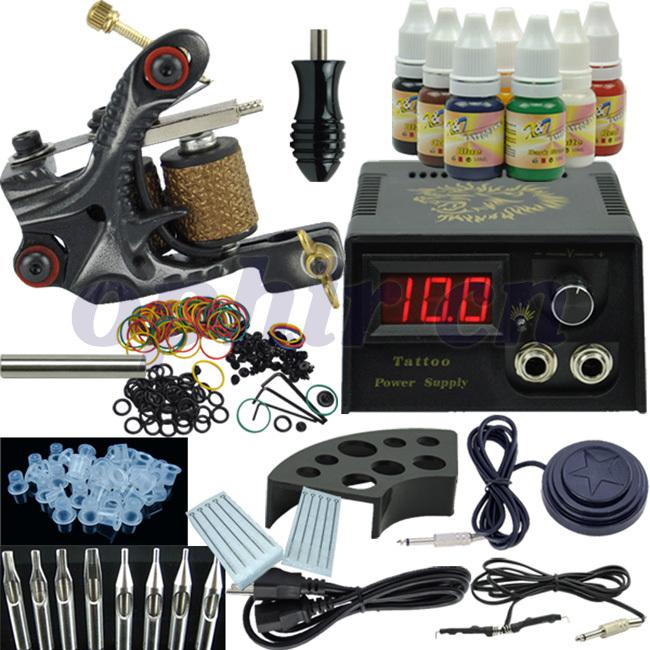 Wholesale ophir beginner rotary tattoo kit tatoo machine for Best tattoo starter kit