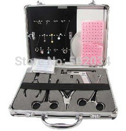 Wholesale High Quality Body Piercing Jewelry Real Kit for Navel Ear Tongue Tattoo Supplies tattoo piering kits DHL