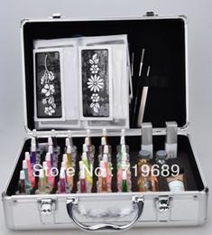 Wholesale Professional glitter tattoo kit Body Art Deluxe Kit color BALK38