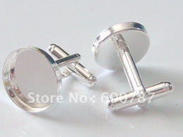 Wholesale-freeshipping, high quality sterling silver cufflink base, cufflink blank, cufflink setting: choose size 16, 18, 20, 25mm