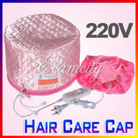 Wholesale V Home Hair Thermal Treatment Beauty Steamer SPA Cap Nourishing Hair Care Hat Pink