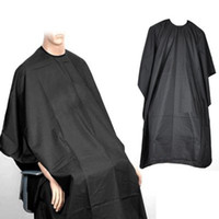Wholesale New black Salon Hairdressing Hairdresser Hair Cutting Gown Barbers Cape Cloth