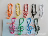 Wholesale Music Notation gift paper clips student stationery music notation paper clips