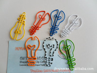 Wholesale Bulb shape paper clips cartoon interesting paperclip