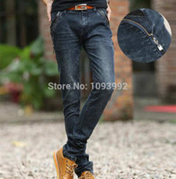 name brand jeans - Newly Style Brand Name Men Skinny Biker Jeans Zipper Fashionable Retro Jeans Me Slim Fitted Pantalones Hombre Spring Autumn