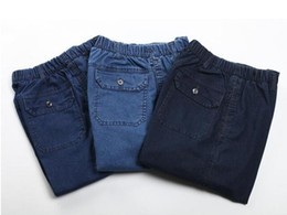 Wholesale-Hot selling high quality Jeans men, elastic waist jeans Vintage color fashionable casual jeans for men Men's jeans