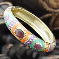 Personalizados étnicas joyería 10pcs pulseras brazalete barato de China Cloisonne Moda pulsera mezclan gratuito