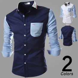 Wholesale-Men Spring New Arrival Mens Dress Shirts Men Slim Fit Social Shirts For Man Camisa Masculina Long Sleeve Causal Shirt