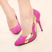 ladies shoes low price - Low Price New Women Pumps Sexy Lady Pointed Toe Cut out Shoes Black Orange Rose Thin High Heels Platform Stilettos Woman Shoes