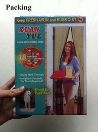 Wholesale Hot Sale Screen Door Curtain Magic Mesh Hands Net Magnetic Anti Mosquito Bug Divider Curtain