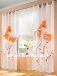 Wholesale Deals German handmade inkjet colorful flowers sheers window curtain roman blinds One Panel