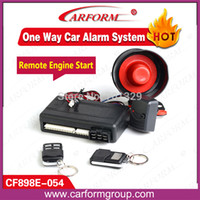 anti hijack - Remote engine start way car alarm system with Turbo timer Anti hijacking One way car alarm system