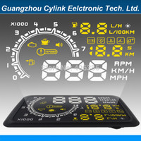 auto alarm installation - inch car head up display installation easily auto hud display with Speed RPM ATP KM h accelerate Dtime Alarm Remind