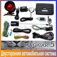 Wholesale New scher khan magicar M5 Two way car alarm system Russian version LCD Remote controller sher khan magicar M5 scher khan