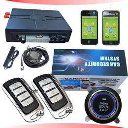 Wholesale hot selling GPS car alarm system GSM mobile opration mobile APP free download SMS start stop car engine GPS tracking system
