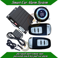 alarm key pads - Top Passive keyless entry smart car alarm remote start push button start passwords touch sense key pad learning code CE passed