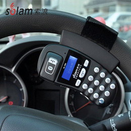 Discount phone caller id Wholesale-2015 hot sale top fasion solam sl-880 steering wheel car bluetooth speaker phone caller id(include english version manual)