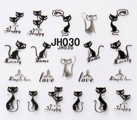 Wholesale New arrival cats design Nail Art Stickers D Nail Decals JH025 JH036 NS21